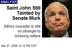 Saint John Still Tainted by Senate Murk