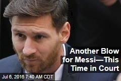 Another Blow for Messi—This Time in Court