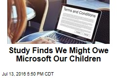 Study Finds We Might Owe Microsoft Our Children