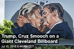 Trump, Cruz Smooch on a Giant Cleveland Billboard