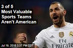 3 of 5 Most Valuable Sports Teams Aren't American