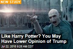 Like Harry Potter? You May Have Lower Opinion of Trump