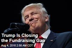 Trump Is Closing the Fundraising Gap