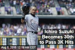 Ichiro Suzuki Becomes 30th to Pass 3K Hits