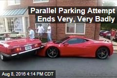 Parallel Parking Attempt Ends Very, Very Badly