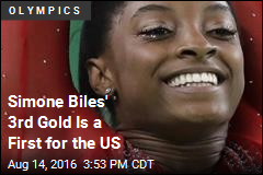 Simone Biles' 3rd Gold Is a First for the US