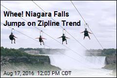 Whee! Niagara Falls Jumps on Zipline Trend