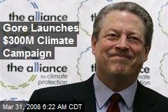 Gore Launches $300M Climate Campaign