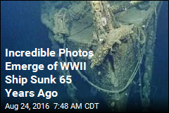 Incredible Photos Emerge of WWII Ship Sunk 65 Years Ago