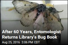 Entomologist Returns Library's Moth Book 60 Years Late