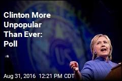 Clinton More Unpopular Than Ever: Poll