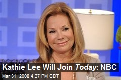 Kathie Lee Will Join Today : NBC