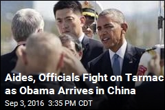 Bumpy Start to Obama's China Trip, Beginning With the Stairs