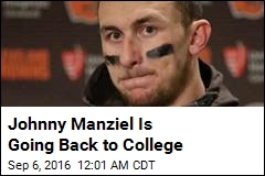 Johnny Manziel Is Going Back to College