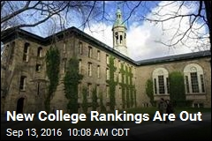 New College Rankings Are Out