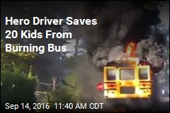 Hero Driver Saves 20 Kids From Burning Bus