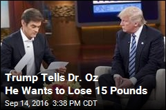 Trump Surprises Dr. Oz With Results of Physical