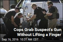 Cops Grab Suspect's Gun Without Lifting a Finger