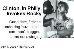 Clinton, in Philly, Invokes Rocky