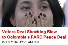 Colombia Voters Narrowly Reject Peace Deal