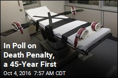 In Poll on Death Penalty, a 45-Year First