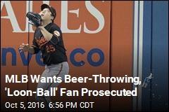MLB Wants Beer-Throwing, 'Loon-Ball' Fan Prosecuted