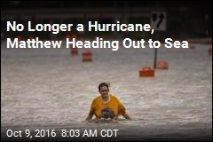 No Longer a Hurricane, Matthew Heading Out to Sea