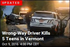 Wrong-Way Driver Kills 5 Teens in Vermont