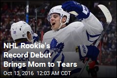 NHL Rookie's Record Debut Brings Mom to Tears