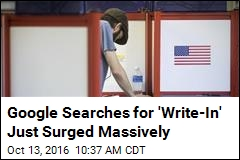 Google Searches for 'Write-In' See a 2.8K% Surge