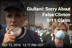 Giuliani: Sorry About False Clinton 9/11 Claim