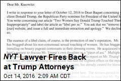 NYT Lawyer Fires Back at Trump Attorneys