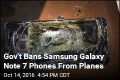 Gov't Bans Samsung Galaxy Note 7 Phones From Planes