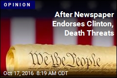 After Newspaper Endorses Clinton, Death Threats