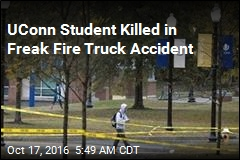 UConn Student Killed in Freak Fire Truck Accident