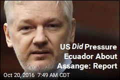US Did Pressure Ecuador About Assange: Report