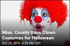 Miss. County Bans Clown Costumes for Halloween