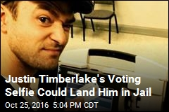 Justin Timberlake's Voting Selfie Could Land Him in Jail