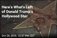 Here's What's Left of Donald Trump's Hollywood Star