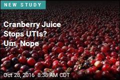Cranberry Juice Stops UTIs? Um, Nope