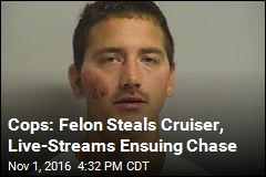 Man Allegedly Live-Streams Chase After Stealing Cop Car