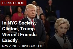In NYC Society, Clinton, Trump Weren't Friends Exactly