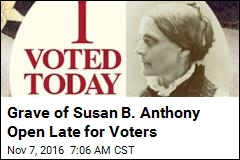 Voters Give Susan B. Anthony 'I Voted' Tribute