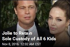 Jolie to Retain Sole Custody of All 6 Kids