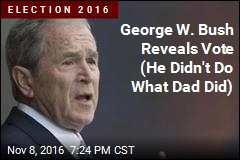 George W. Bush Reveals Vote (He Didn't Do What Dad Did)