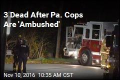3 Dead After Pa. Cops Are 'Ambushed'
