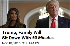 Coming Up Sunday: 60 Minutes Trump Interview