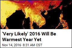 'Very Likely' 2016 Will Be Warmest Year Yet