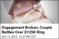 Former Couple Heads to Court Over $125K Engagement Ring