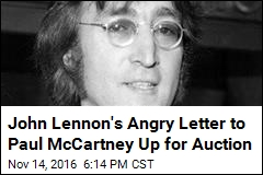 John Lennon's Angry Letter to Paul McCartney Up for Auction